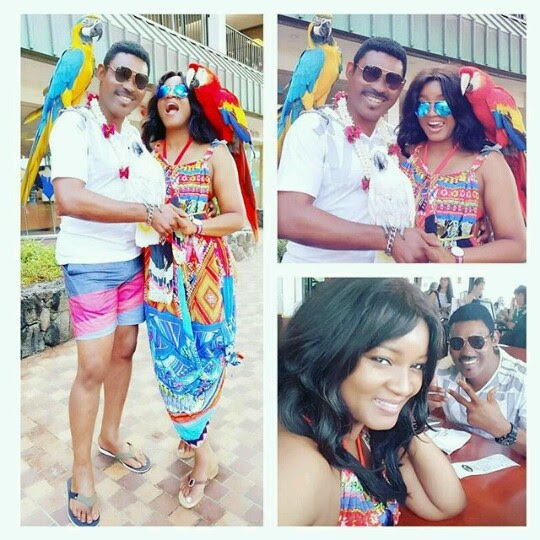 Omotola's 20th Wedding Anniversary Hawaiian Getaway (Photos)