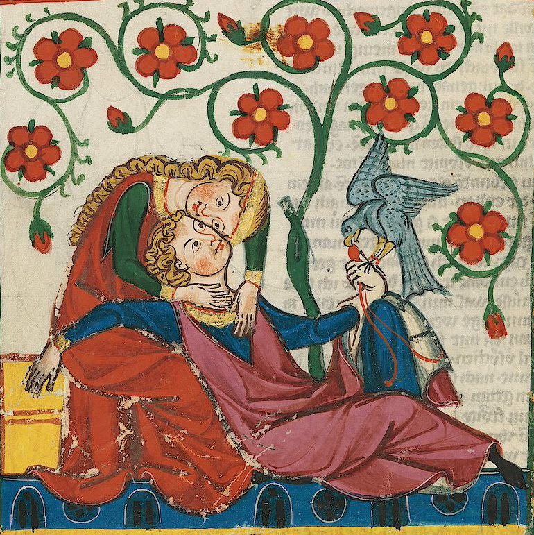 From the Codex Manesse, Heidelberg, c.1304-1350