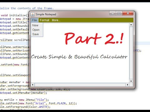 Create a STYLISH & SIMPLE Notepad in Java Part 1 | Eclipse GUI