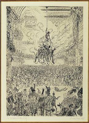 James Ensor, a vingança de Hop-Frog, 1897