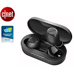 EarFun Free Bluetooth 5.0 Earbuds with Qi Wireless Charging Case, USB-C Quick Charge, IPX7 Waterproof in-Ear, 30H Playtime Built-in Mic (Black)