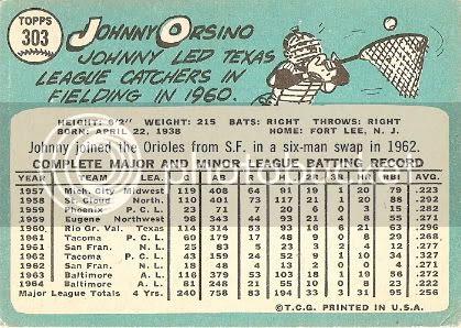 #303 Johnny Orsino (back)