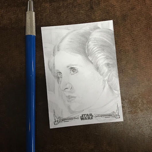 Star Wars Princess Leia Sketch Card