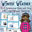 Winter Weather Interactive Vocabulary Book and Song