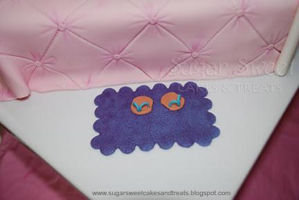 Gumpaste Textured Rug Star Slippers b