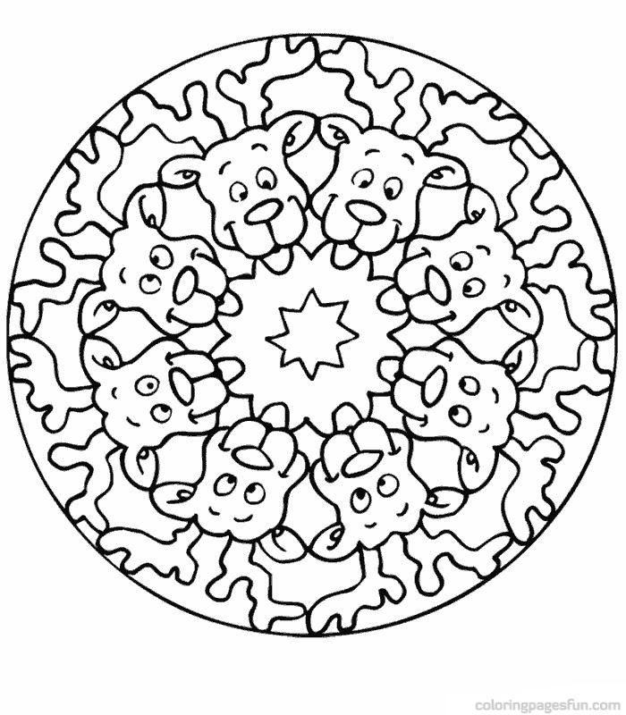 Coloriage A Imprimer De Mandala De Chien 1001 Animaux