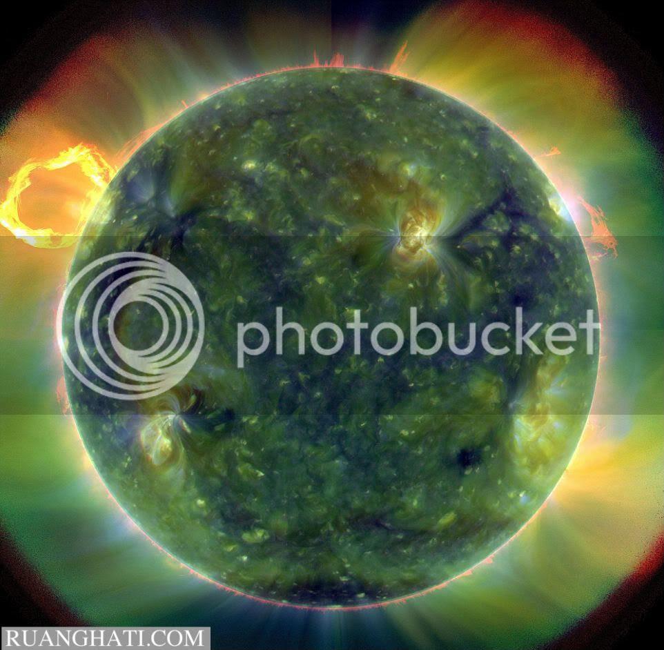 Gambar matahari tampak lebih dekat