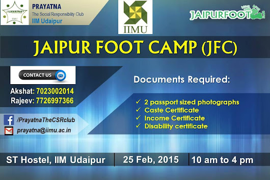 A Relief for Physically Challenged - Jaipur Foot Camp 2015