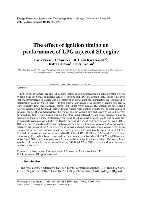 (PDF) The effect of ignition timing on performance of LPG