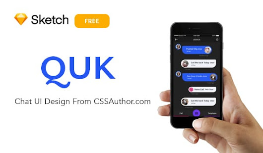 QUK Chat UI Design ( Free Sketch UI Design ) » CSS Author