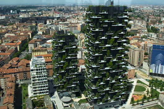 "Slate on Twitter: ""Residential twin towers festooned with trees are the best tall building in 2015:  """