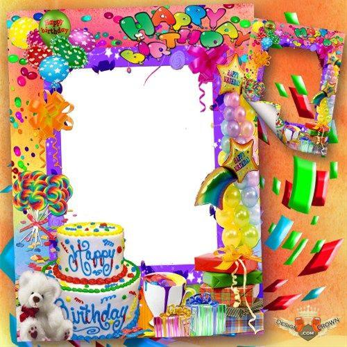16 First Birthday Photo Frame Psd Images Kids Happy Birthday