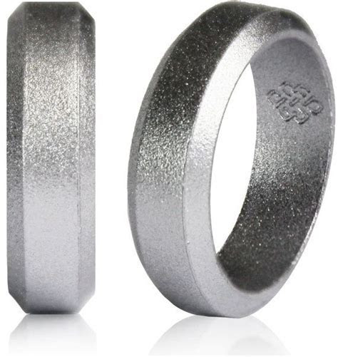 Silver Silicone Wedding Ring by Knot Theory $20