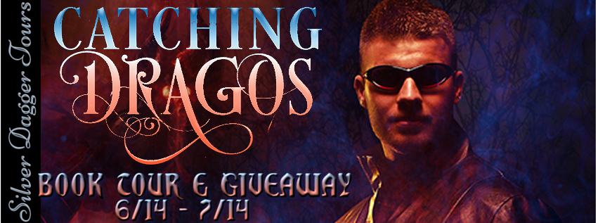 Book Tour Banner for the paranormal romance Catching Dragos by Gail Koger with a Book Tour Giveaway