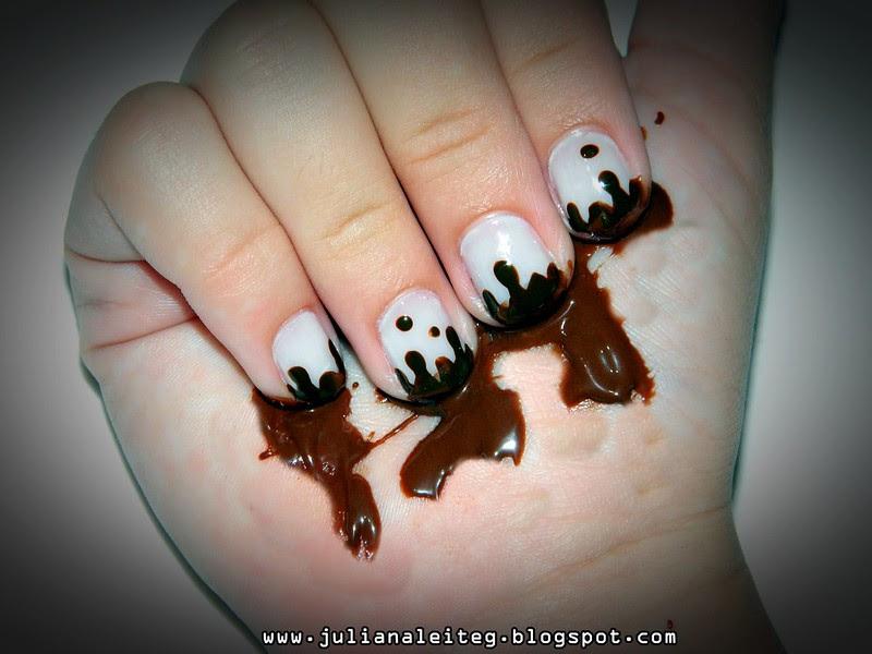 juliana leite unhas chocolate pascoa derretendo criative nailart 027