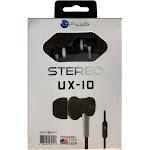 Motorola Moto E5 Supra - Premium Uplus UX-10 Headphones W Mic, Black