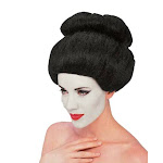 Asian Japanese Geisha China Chinese Black Hair Bun Wig Adult Womens Accessory