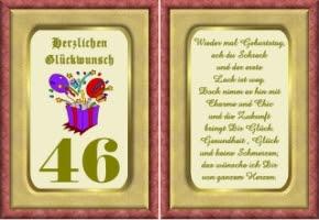 Lustige Geburtstag Wünsche 46 Jahre Kostenlos Ausdrucken