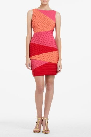 BCBGMAXAZRIA Debra Color-Blocked Dress