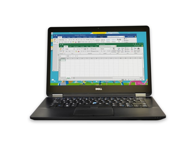 "Dell Latitude E7470 Laptop Computer, 2.40 GHz Intel i5 Dual Core Gen 6, 8GB DDR3 RAM, 256GB SSD Hard Drive, Windows 10 Professional 64 Bit, 14"" Screen (Renewed) for $529"