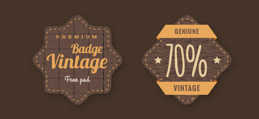 Badge PSD Template Set - Free PSD Files