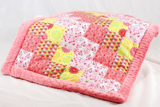 Baby Quilt Blanket Patchwork Minky handmade Baby by NuvaArt