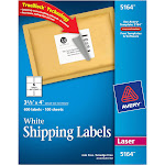 """Avery TrueBlock Shipping labels, 3.3"""" x 4"""", White - 600 count"""