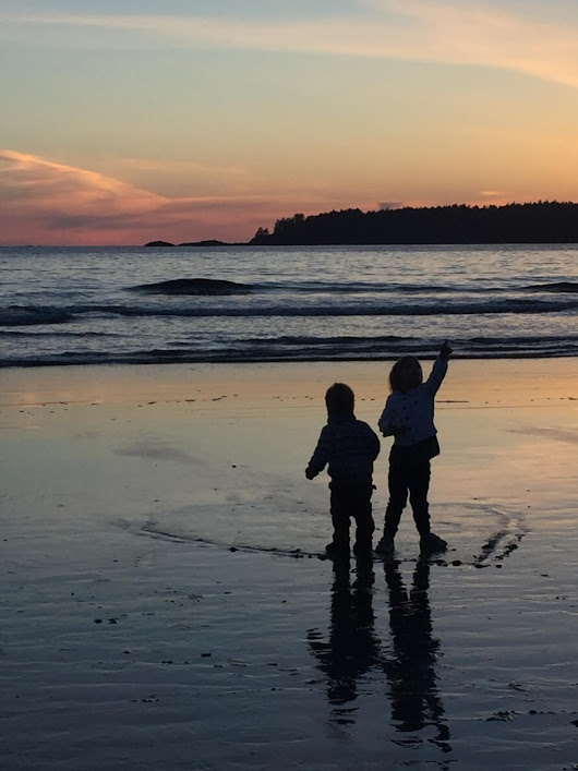 Sandcastles, dinner, and a beautiful Tofino sunset