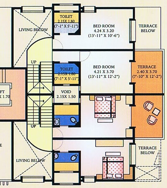A J Serene Ram Indu Park Baner Pune - 3rd Floor - B 5 & A5 Duplex - 2 Bedrooms