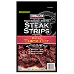 Kirkland Signature Premium Extra Thick Steak Strips, 12 oz
