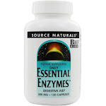 Source Naturals Daily Essential Enzymes Digestive Aid, 500 mg, Capsules - 120 count bottle