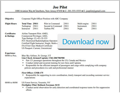pilot resume template download1