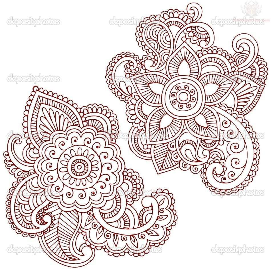 Henna Design Drawing At Getdrawingscom Free For Personal Use