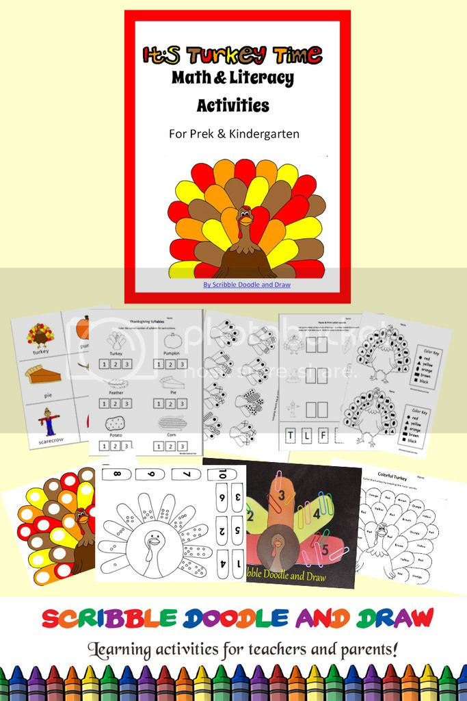 thanksgiving math and literacy unit for kindergarten