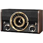 Victrola - VC-525 Analog FM Clock Radio - Gold/Black