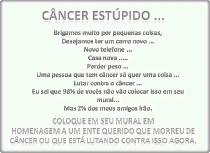 Lindas Mensagens Para Quem Tem Câncer Mensagens Cultura Mix