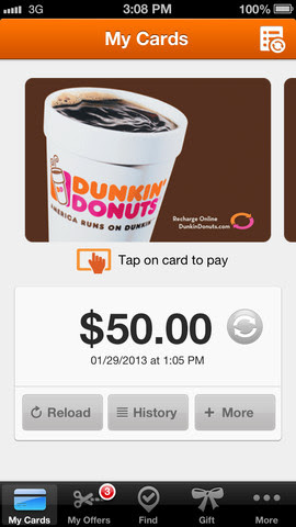 Dunkin' Donuts 2.5 for iOS (iPhone screenshot 001)