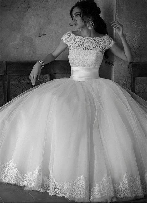 2016 New White/Ivory Lace Wedding dress Bridal gown Ball