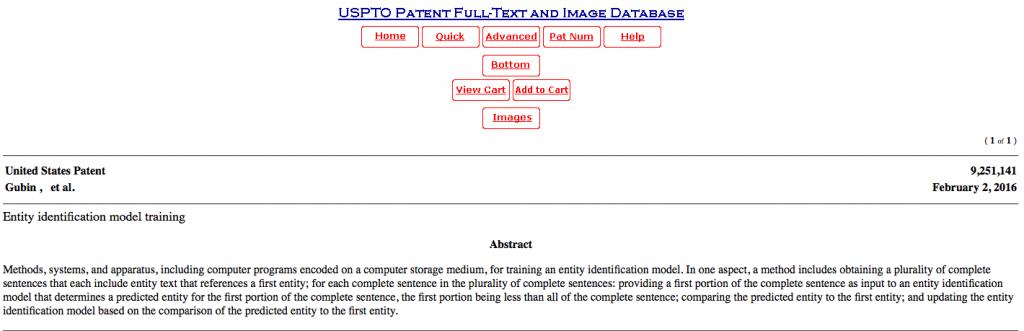 entity identification model training
