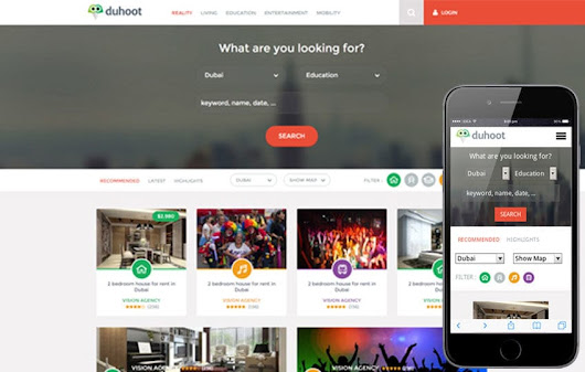 Duhoot a Portal Multipurpose Flat Bootstrap Responsive web template by w3layouts