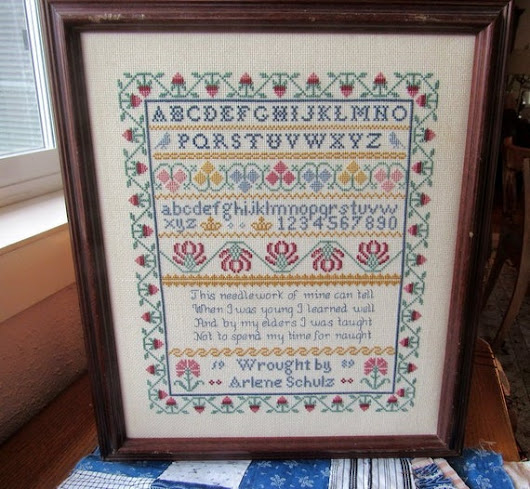Counted Cross Stitch Sampler Framed Ready To Hang Vintage | Etsy