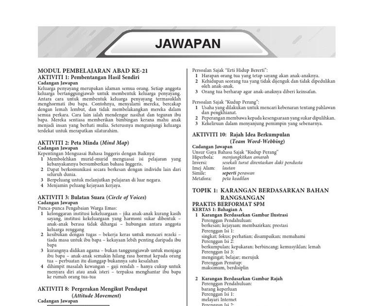 Jawapan Modul Intervensi Bahasa Inggris Spm - malasios
