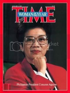 corazon aquino as Time Magazine's Woman of the Year