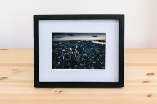 "Ghotam City - New York. Picture Framed: Matted To 5"" x 7""  luster (non-glossy) finish."