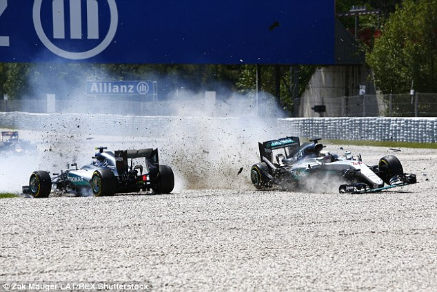 Niki Lauda has criticised Lewis Hamilton's aggression after the Mercedes driver collided with his team-mate Nico Rosberg on the first lap of the Spanish Grand Prix