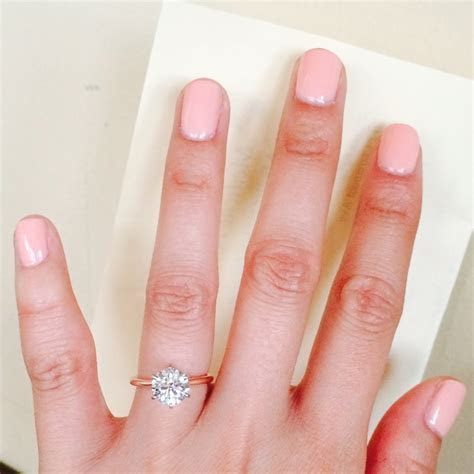 Which nail polish color complements your rose gold ring(s