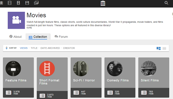 Watch feature films and documentaries legally at Internet Archive.