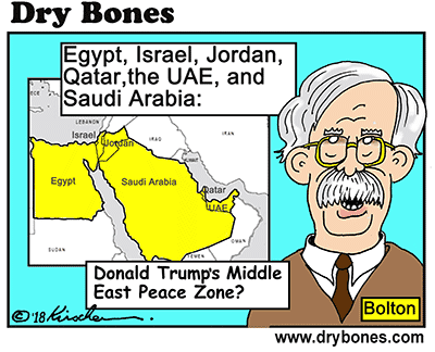 Dry Bones cartoon,talks,Trump, Abbas, PLO, Hamas, Peace, David Singer,PLO, Abbas, Israel,