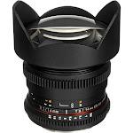 Rokinon CV14M-MFT Wide-Angle Lens for Micro Four Thirds - 14mm - T/3.1