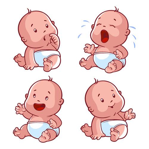 Cartoon baby cute design vector 01 free download